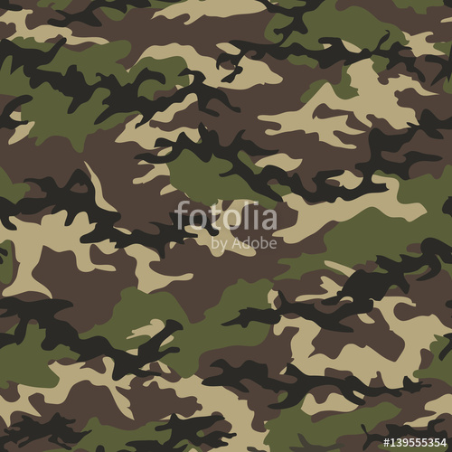 500x500 Camouflage Seamless Woodland Pattern Background. Military