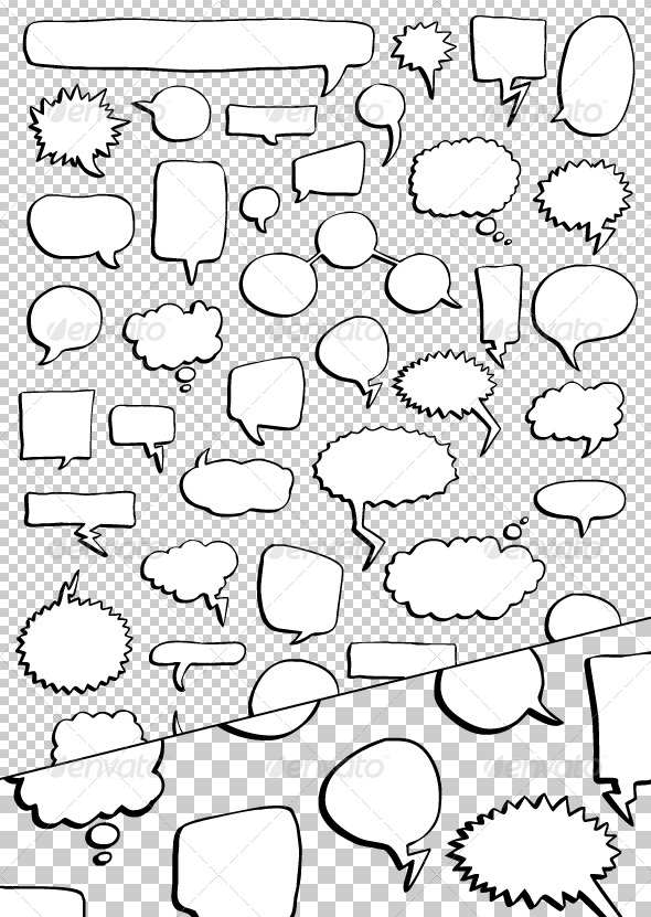 Word Balloon Vector