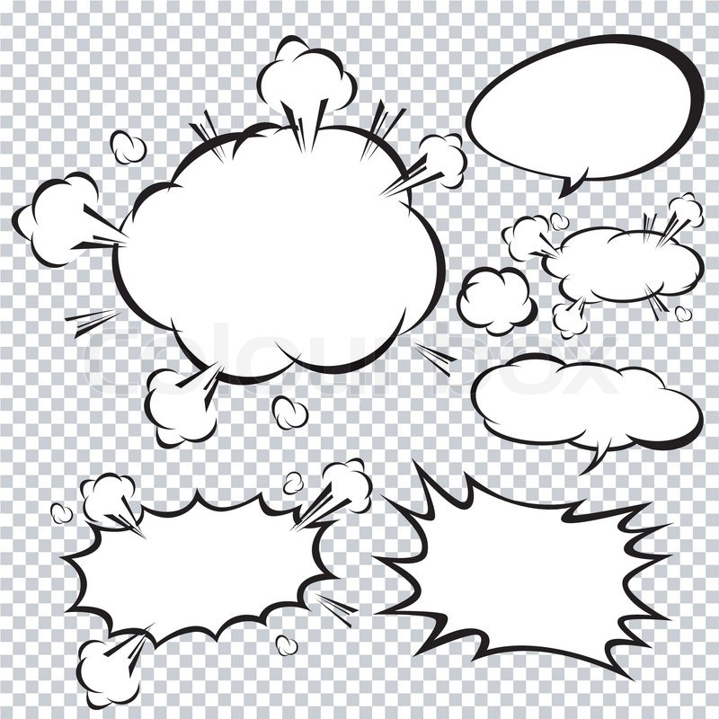800x800 Comic Speech Bubble, Cartoon Stock Vector Colourbox