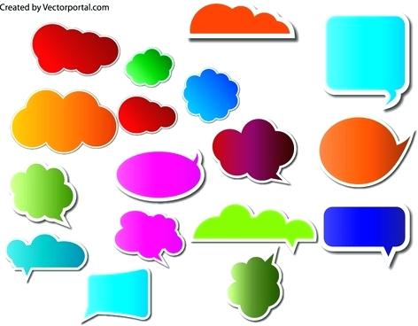 472x368 Free Bubble Clip Art Text Bubbles Vector Set Free Clipart Speech