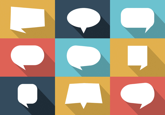 700x490 Free Colorful Set Of Speech Bubbles Vector 145634