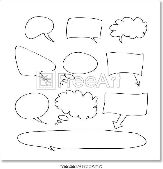 561x581 Free Art Print Of Word Bubble. Vector