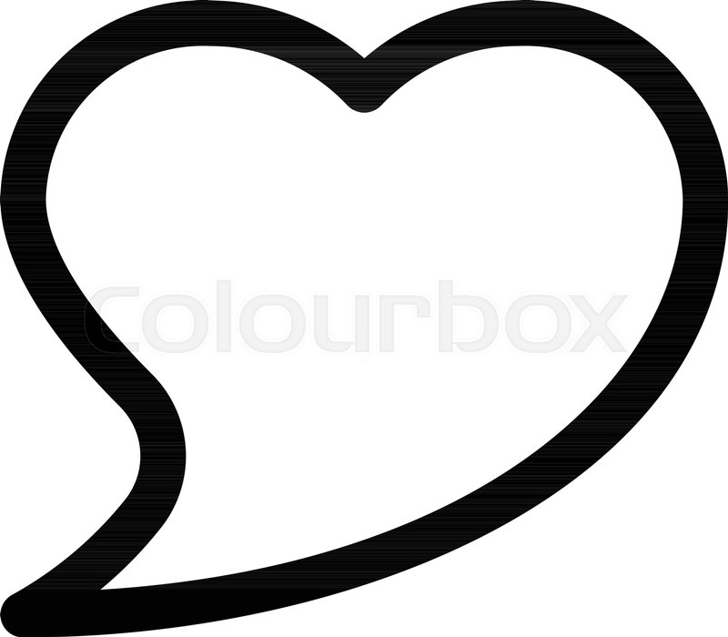 800x700 Heart Shape Speech Bubble Stock Vector Colourbox