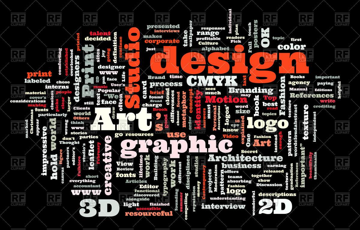 1200x767 Graphic Design Studio Word Cloud Vector Image Vector Artwork Of