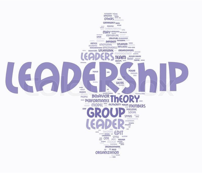 800x687 Leadership Word Cloud Stock Vector Colourbox