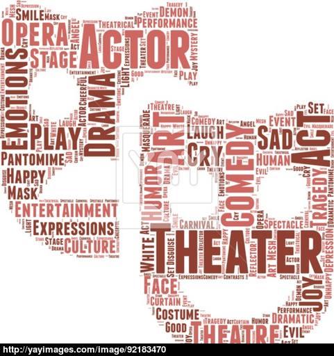 481x512 Theatre Pictogram Vector Tag Cloud Vector