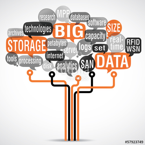 500x500 Word Cloud Bubbles Electronic Tree Big Data Stock Image And