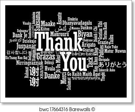 437x364 Art Print Of Thank You Word Cloud Illustration Barewalls Posters