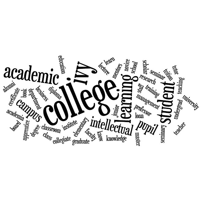 660x660 College Word Cloud Vector