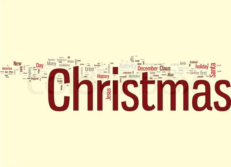 800x578 Christmas Word Cloud Stock Vector Colourbox