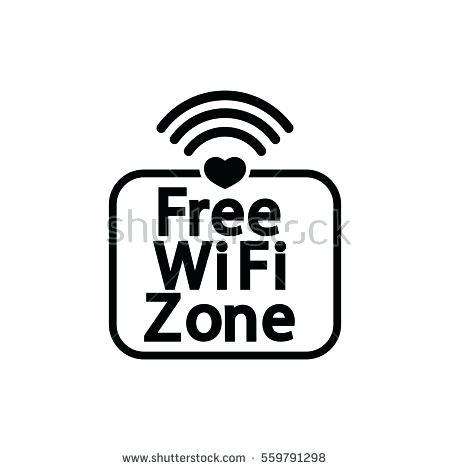 450x470 Wifi Template Wordpress Free Zone Icon Love Stock Vector Royalty