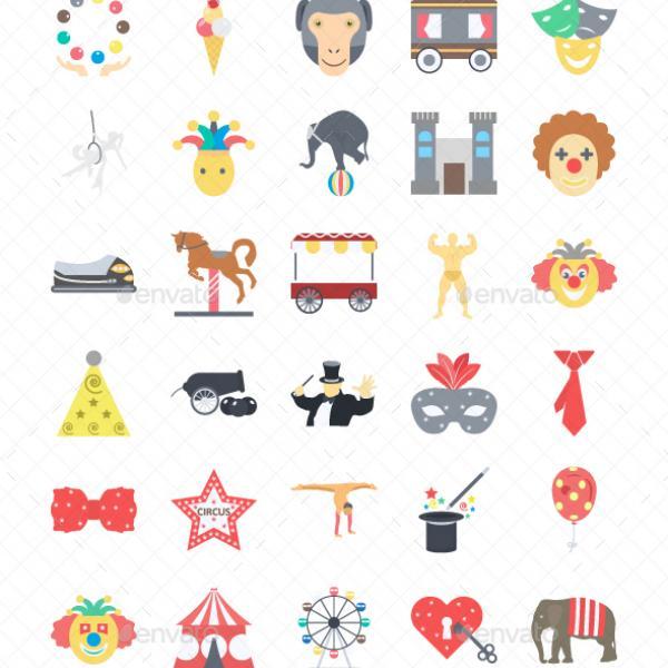 600x600 Wordpress Theme Graphicriver Circus Color Illustration Vector Icon