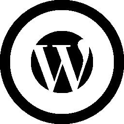256x256 Wordpress Logo In Circular Button Vector Logo Icons