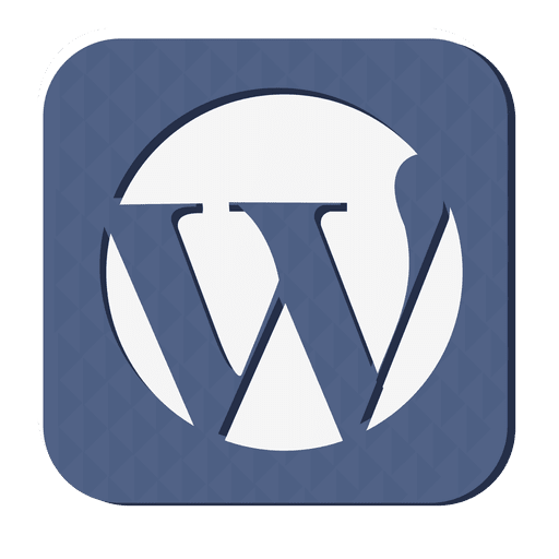 512x512 Wordpress Rubber Icon