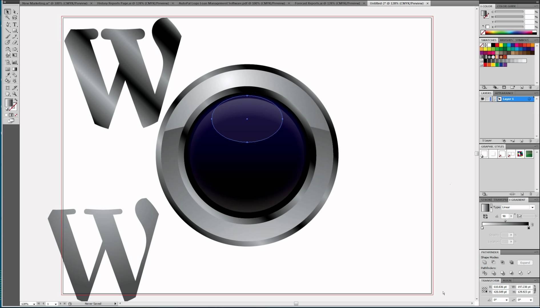 1891x1080 Cool Metallic Wordpress Logo Vector Illustrator