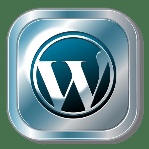 512x512 Wordpress Metallic Button