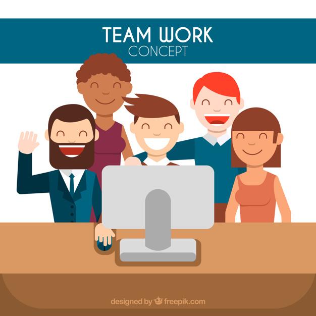 626x626 Happy Work Team Vector Free Download