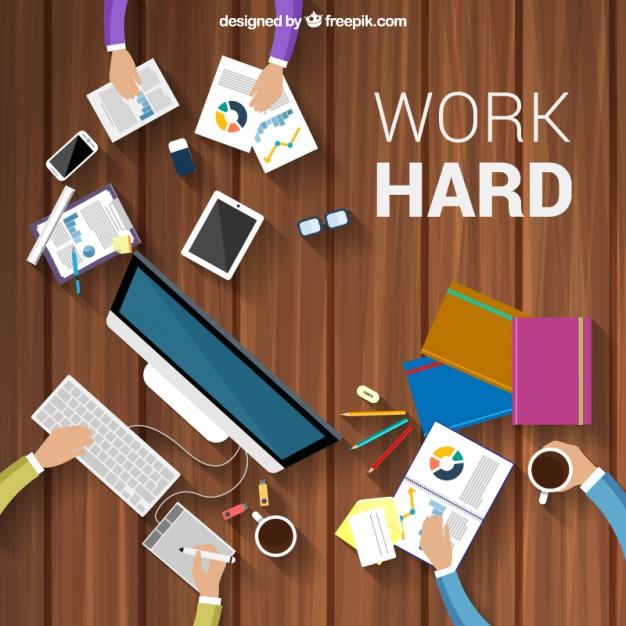 626x626 Work Hard Background Vector Free Download