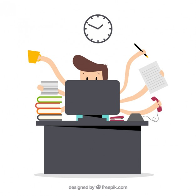 626x626 Busy Businessman Vector Premium Download