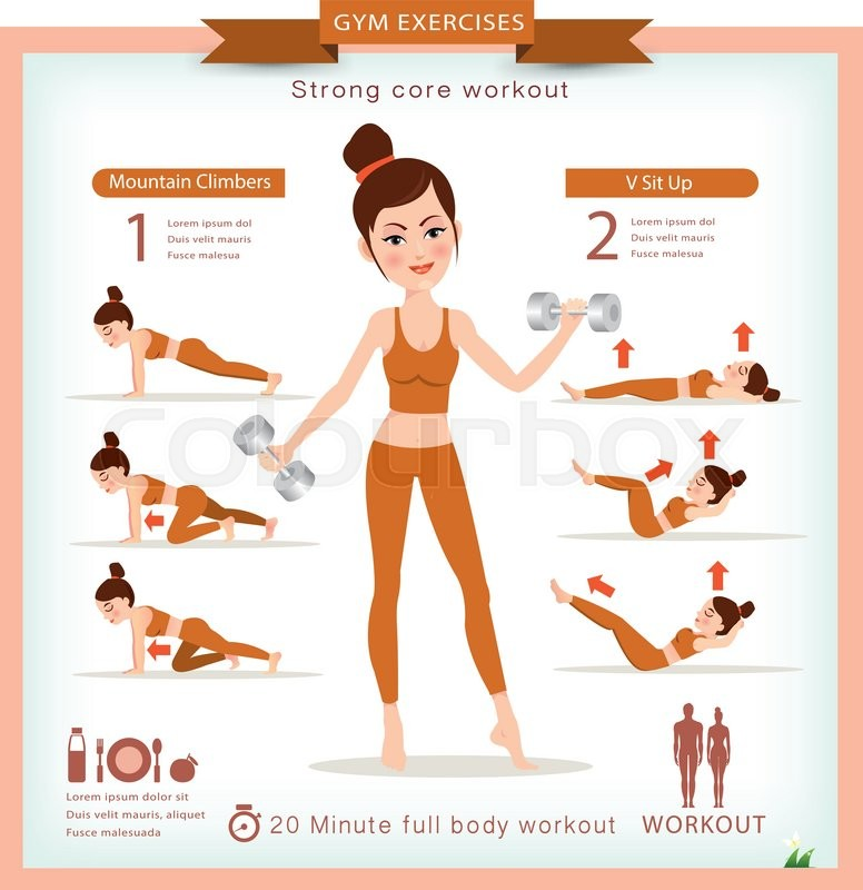 776x800 Sport And Fitness Infographics. Home Workout. Vector. Stock