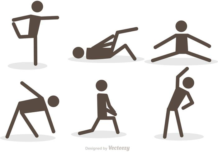 700x490 Workout Stick Figure Icons Vector Pack