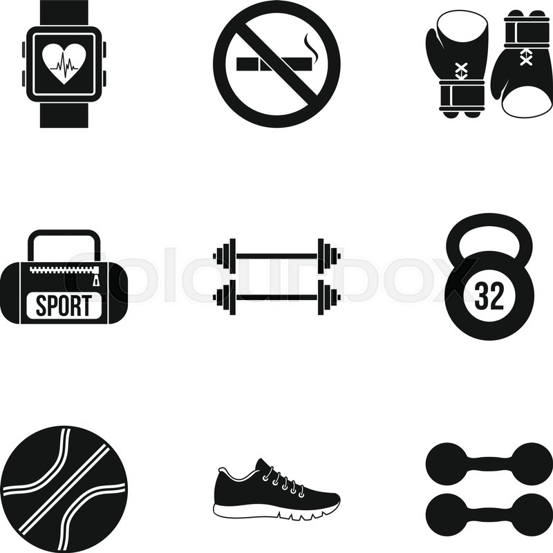 800x800 Workout Icons Set. Simple Illustration Of 9 Workout Vector Icons