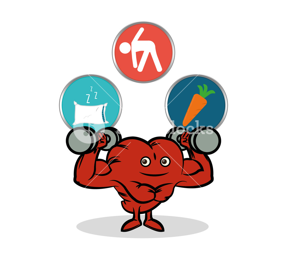 1000x903 Fitness Heart Healthy Gym Workout Vector Illustration Eps 10
