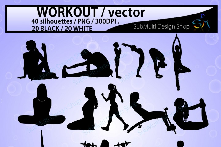 720x479 Workout Workout Silhouette Workout Clipart Vector By