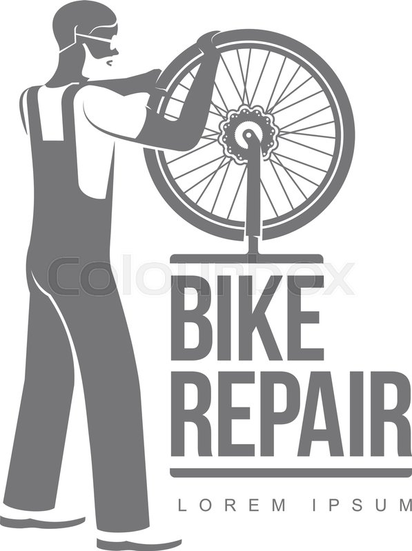 597x799 Bicycle Repair Workshop Vector Logo Template For Your Design. Bike
