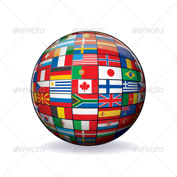 590x590 Globe From World Flags. Vector Graphics By Pilart Graphicriver