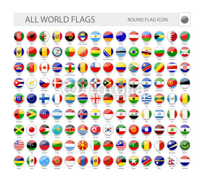 400x344 Round World Flags Vector Collection Buy Photos Ap Images