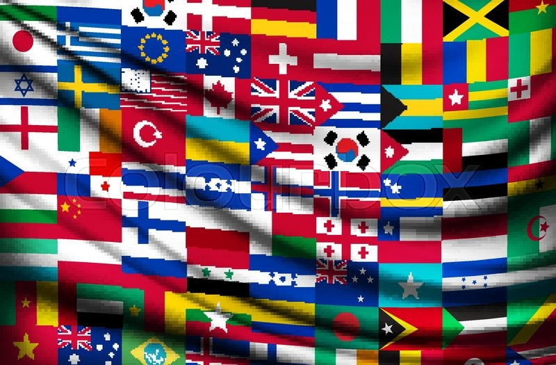 800x525 Big Flag Background Made Of World Country Flags. Vector. Stock