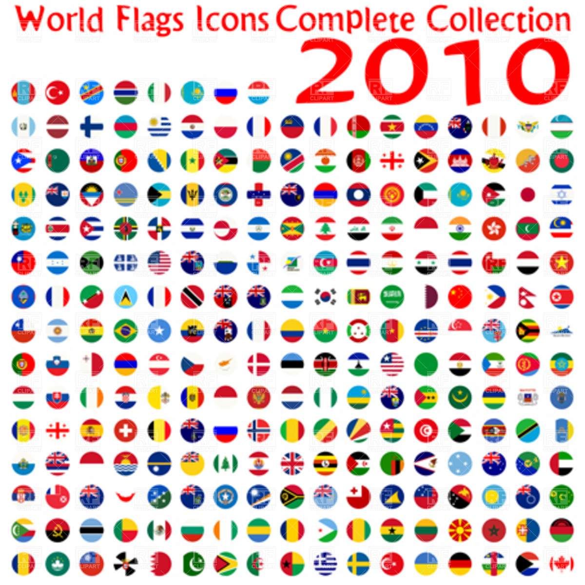 1200x1200 World Flags Icons Collection, Abstract Vector Art Illustration