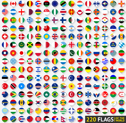 500x488 World Flags Round Icons Vector Material Free Download