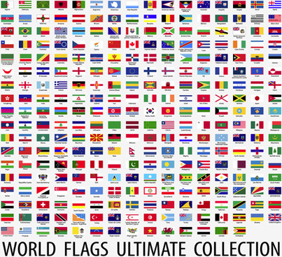 403x368 World Flags Waving Free Vector In Adobe Illustrator Ai ( .ai