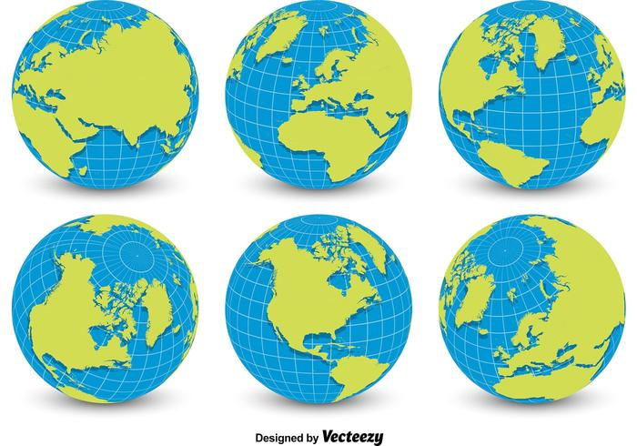 700x490 World Globe Grid Vectors