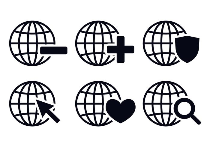 700x490 Grid World Icon Vectors