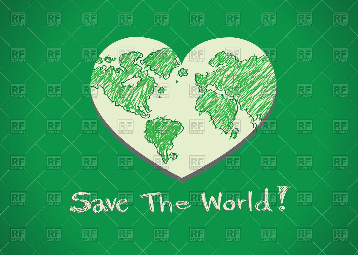 1200x853 Heart Shaped Save The World Icon Vector Image Vector Artwork