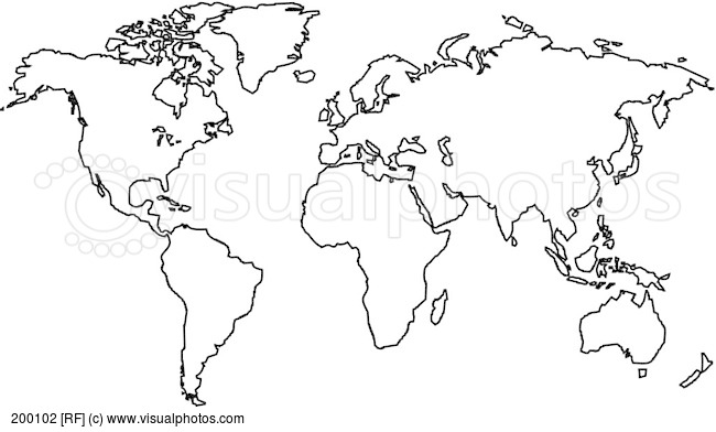 World Map Black And White Vector At Getdrawings Com Free For