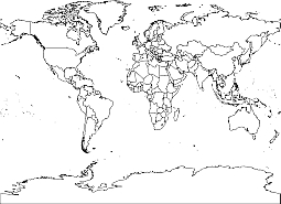 World Map Outline High Resolution Vector