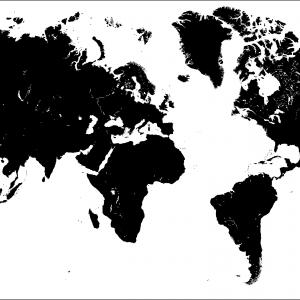 World Map Outline High Resolution Vector at GetDrawings.com | Free ...