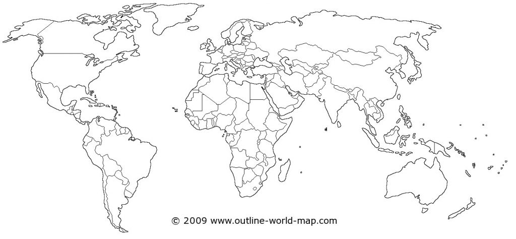 1024x474 World Map Outline Vector About Maps