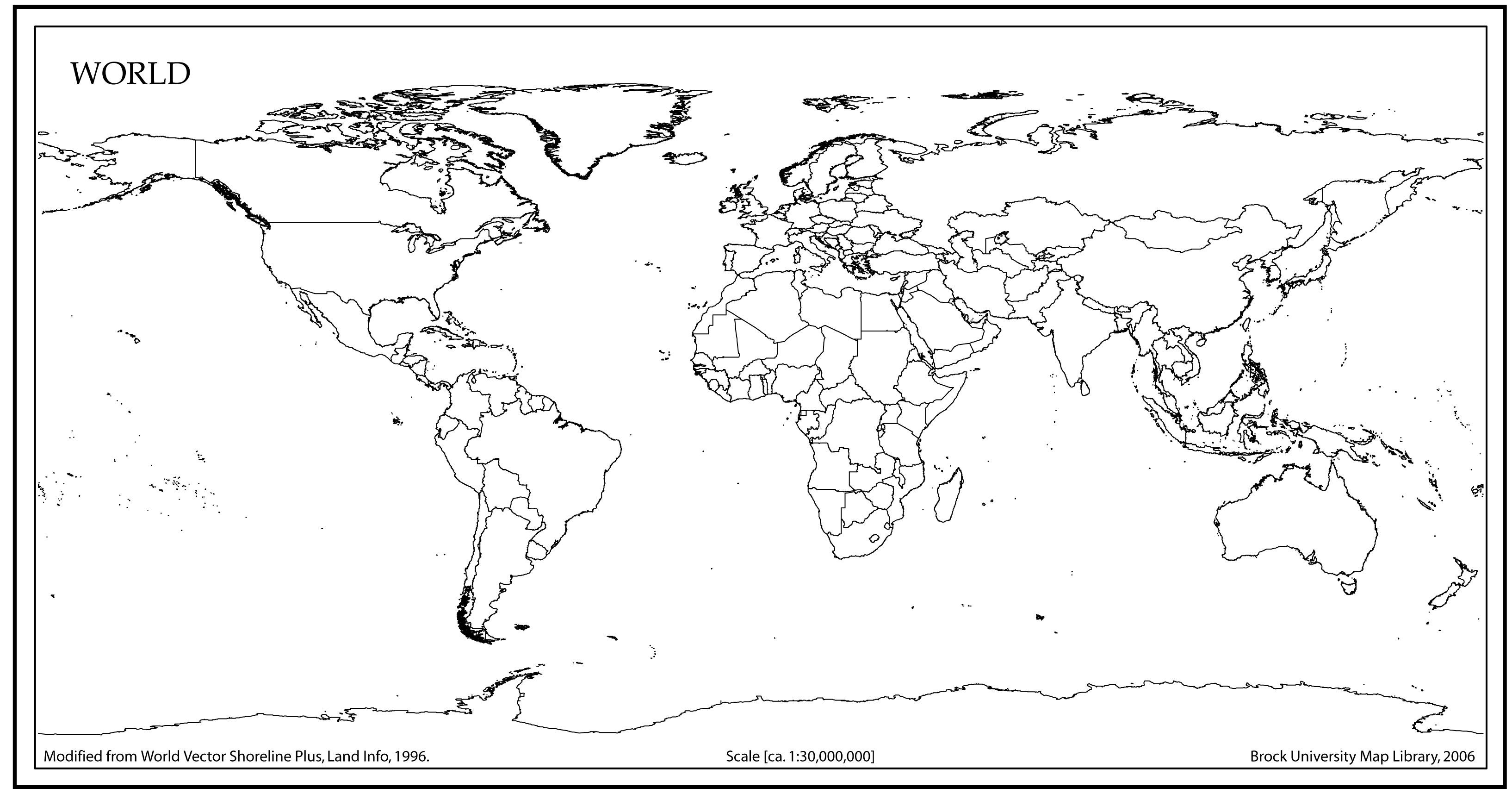 World Map Outline High Resolution Vector at GetDrawings com