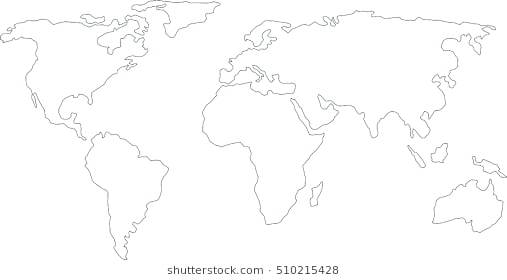 how to draw map of world | Open this world map template ... |Earth Map Outline