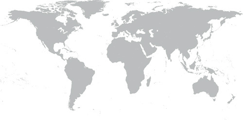500x247 Simple World Maps Vector Free Vector In Encapsulated Postscript