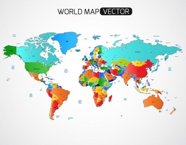 World Map Vector Ai