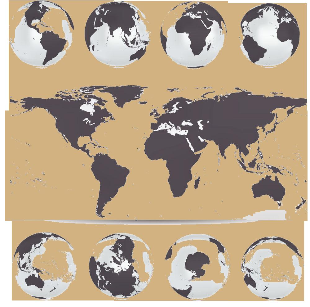 1000x989 Globe World Map Vector Map