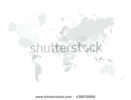 450x344 Grey World Map Vector Illustration Empty Template Without Country
