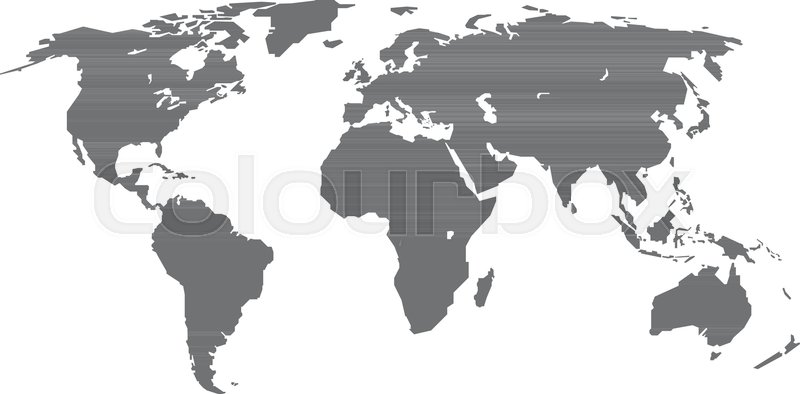 800x394 Grey World Map Infographic Layout Isolated On White. World Map