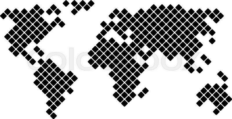 800x411 Pixel World Map, Vector Illustration For Your Design, Eps10